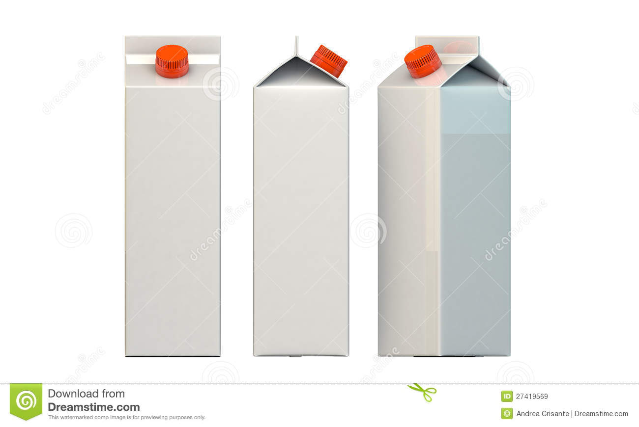Milk Package Royalty Free Stock Images - Image: 27419569