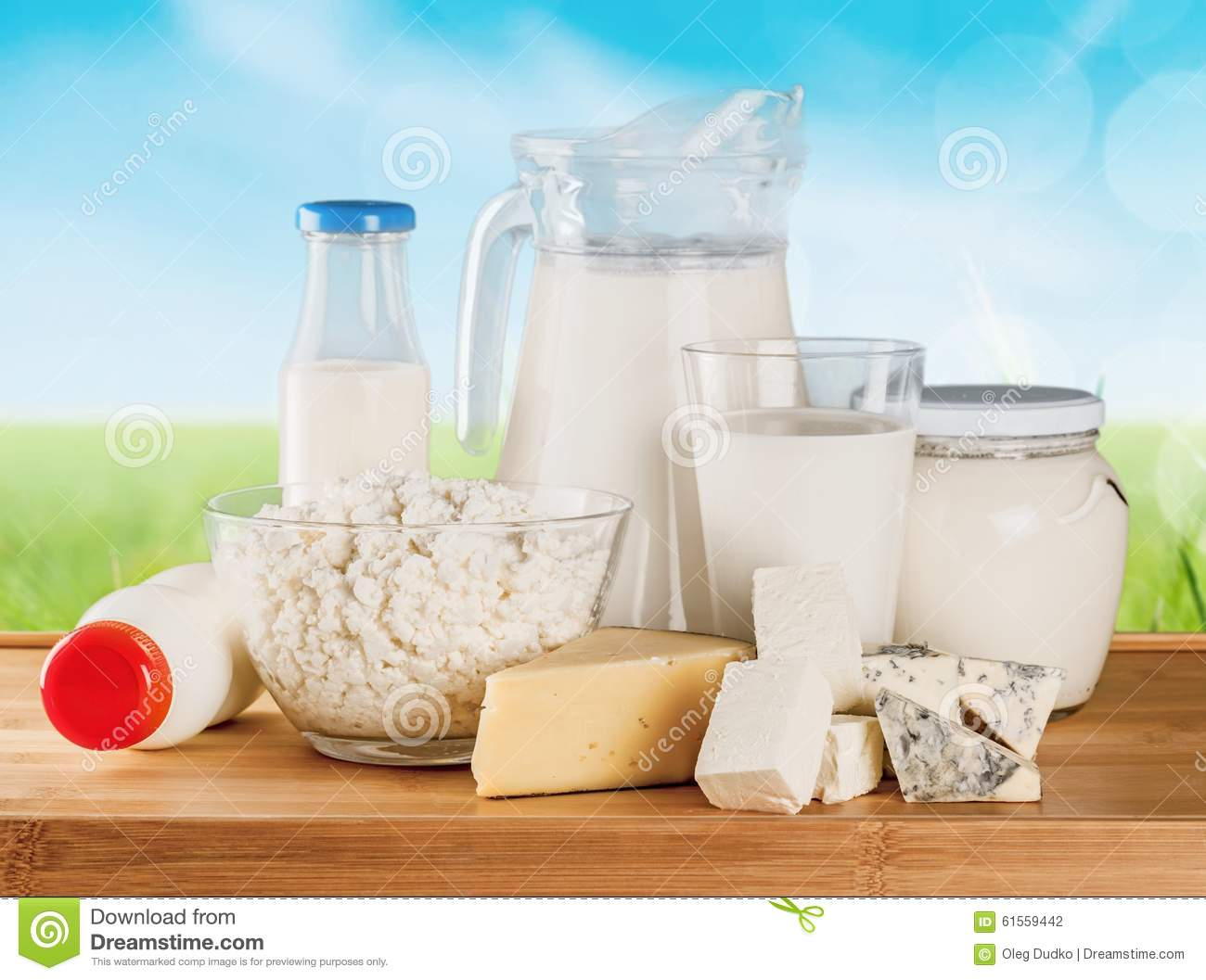 Milk products stock photo. Image of yogurt, cream, group ...