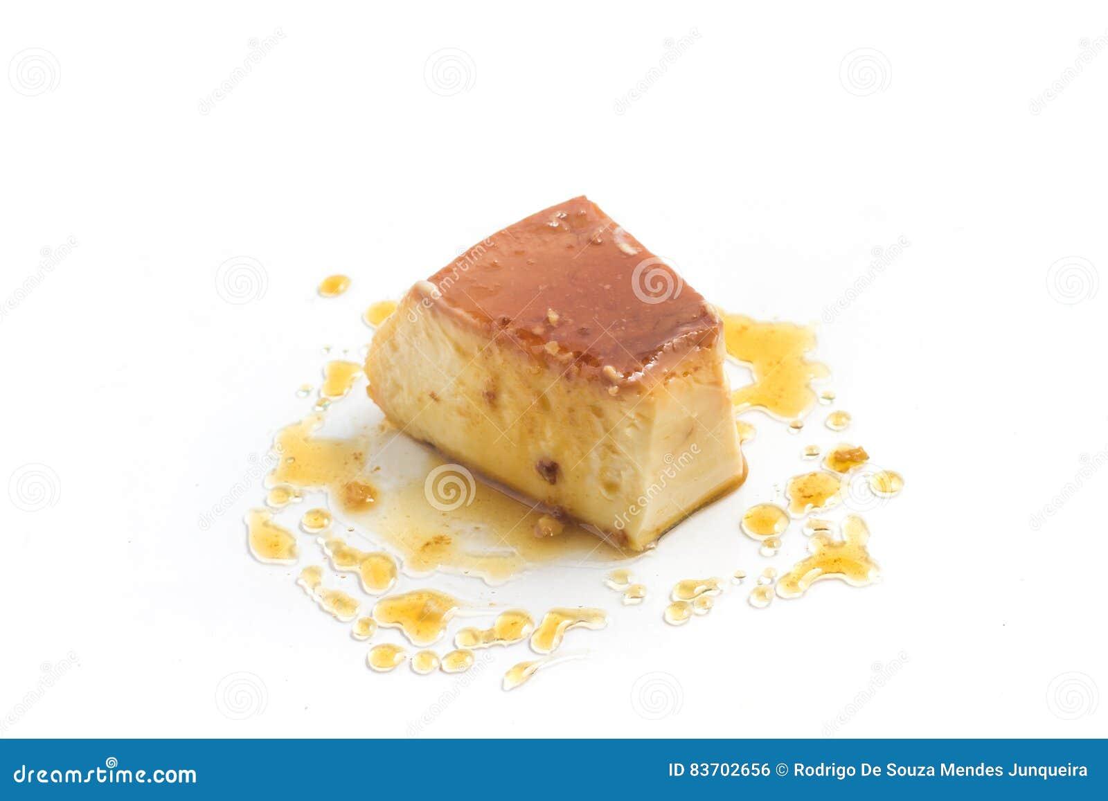 Milk Pudding. Brazilian Flan Stock Photo