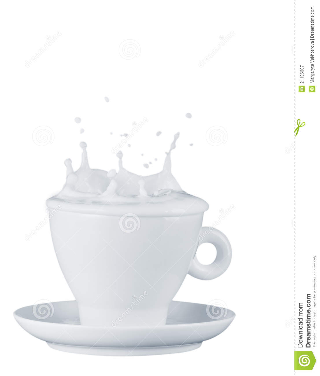 Milk splash out of cup