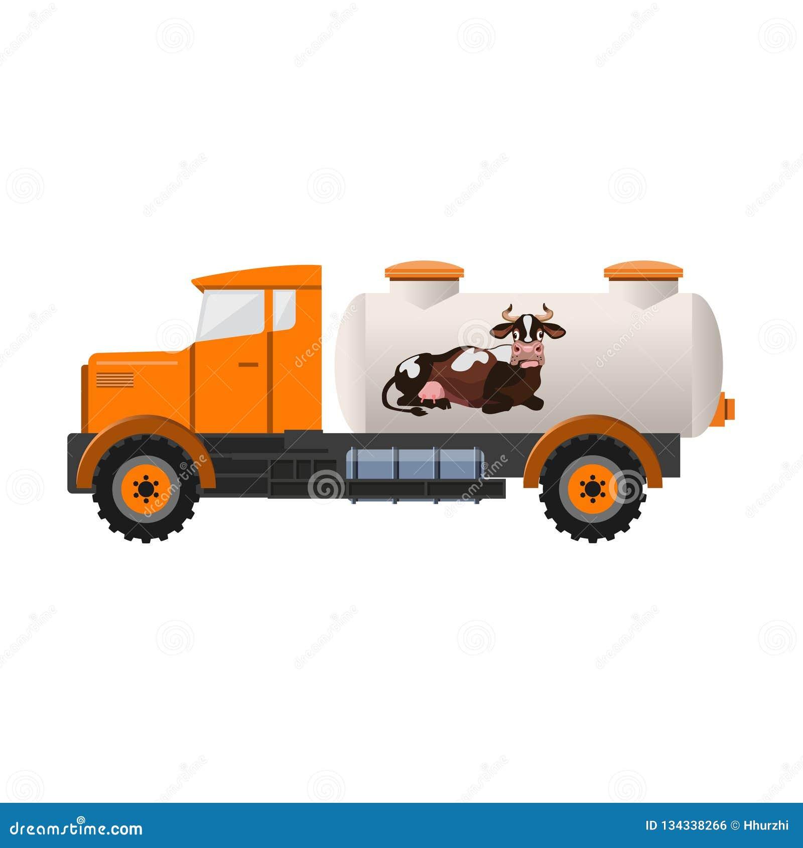 Milk tank truck