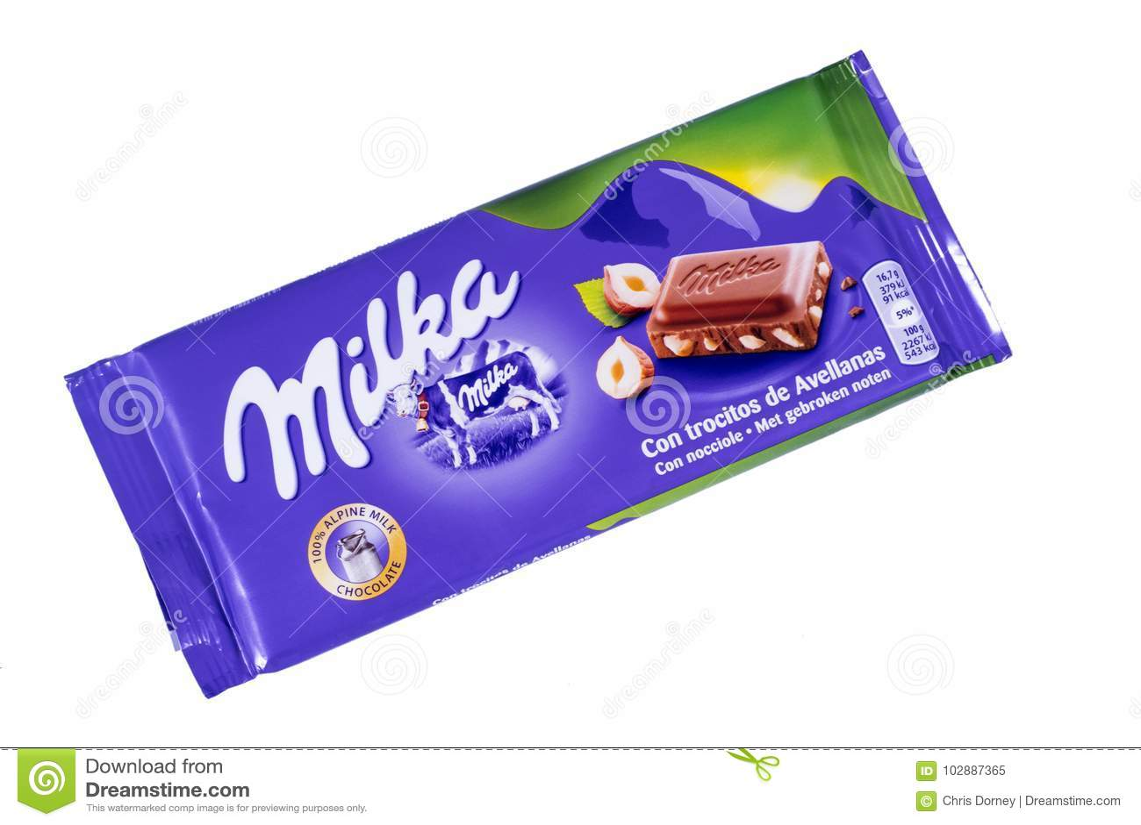Milka Chocolate Bar Editorial Image Image Of Marketing