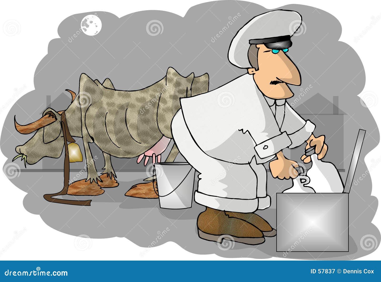 Milkman Stock Illustration Image Of Humor Morning Fresh