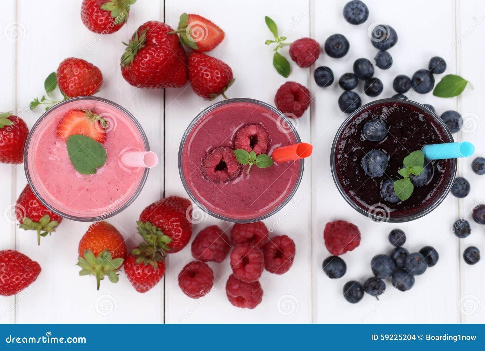 Milkshake för Smoothiefruktfruktsaft med frukter från över