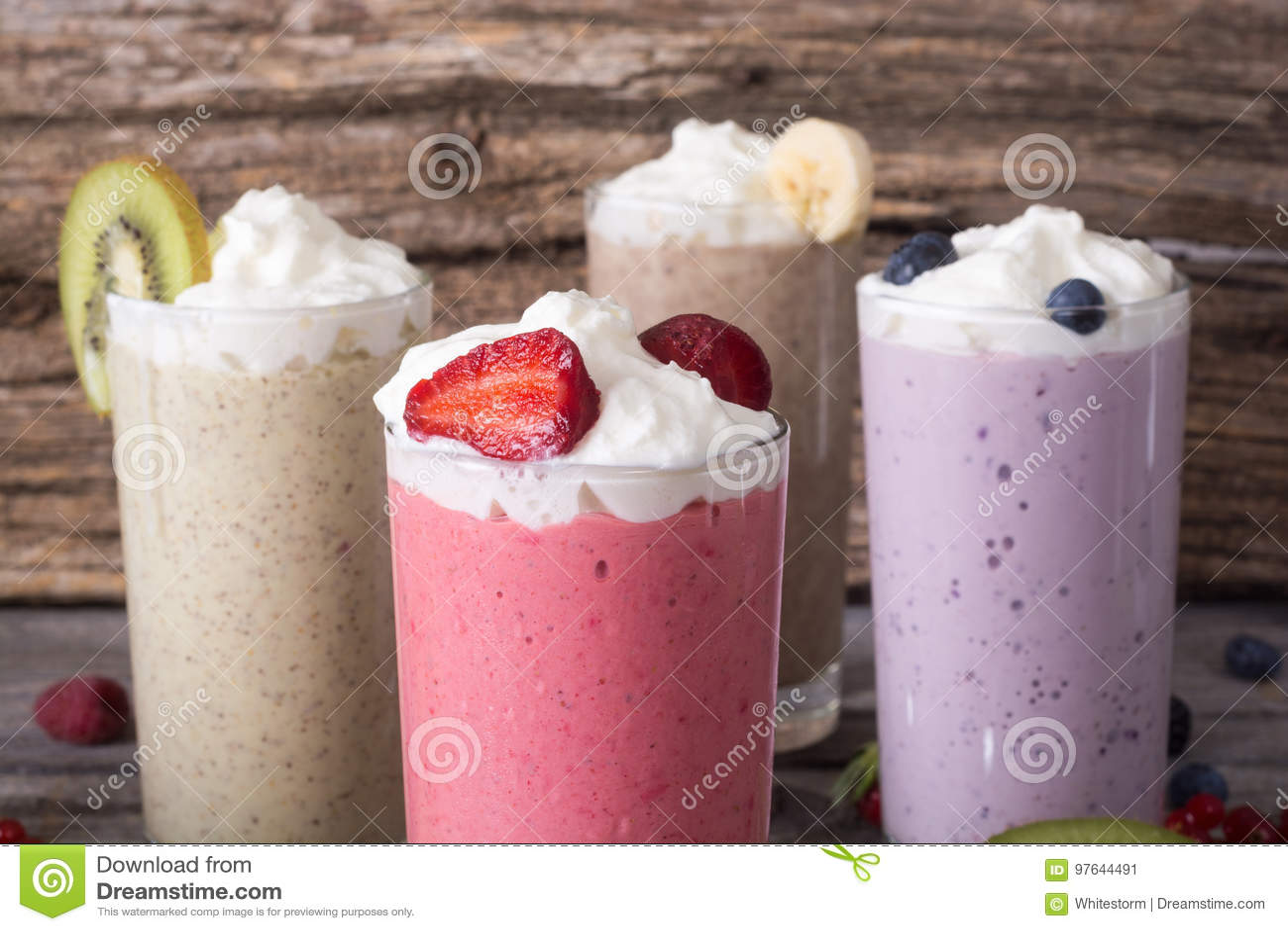 Milkshake met bessen