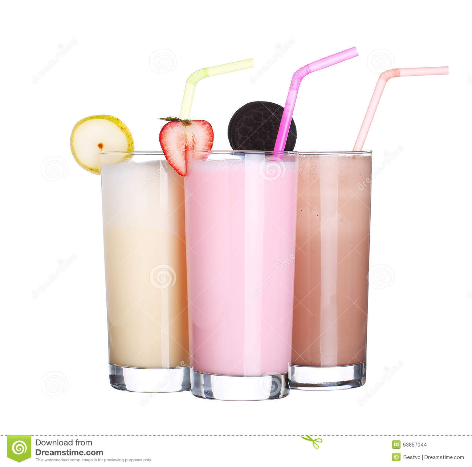 Milkshakes chocolate flavor ice cream set collection isolated