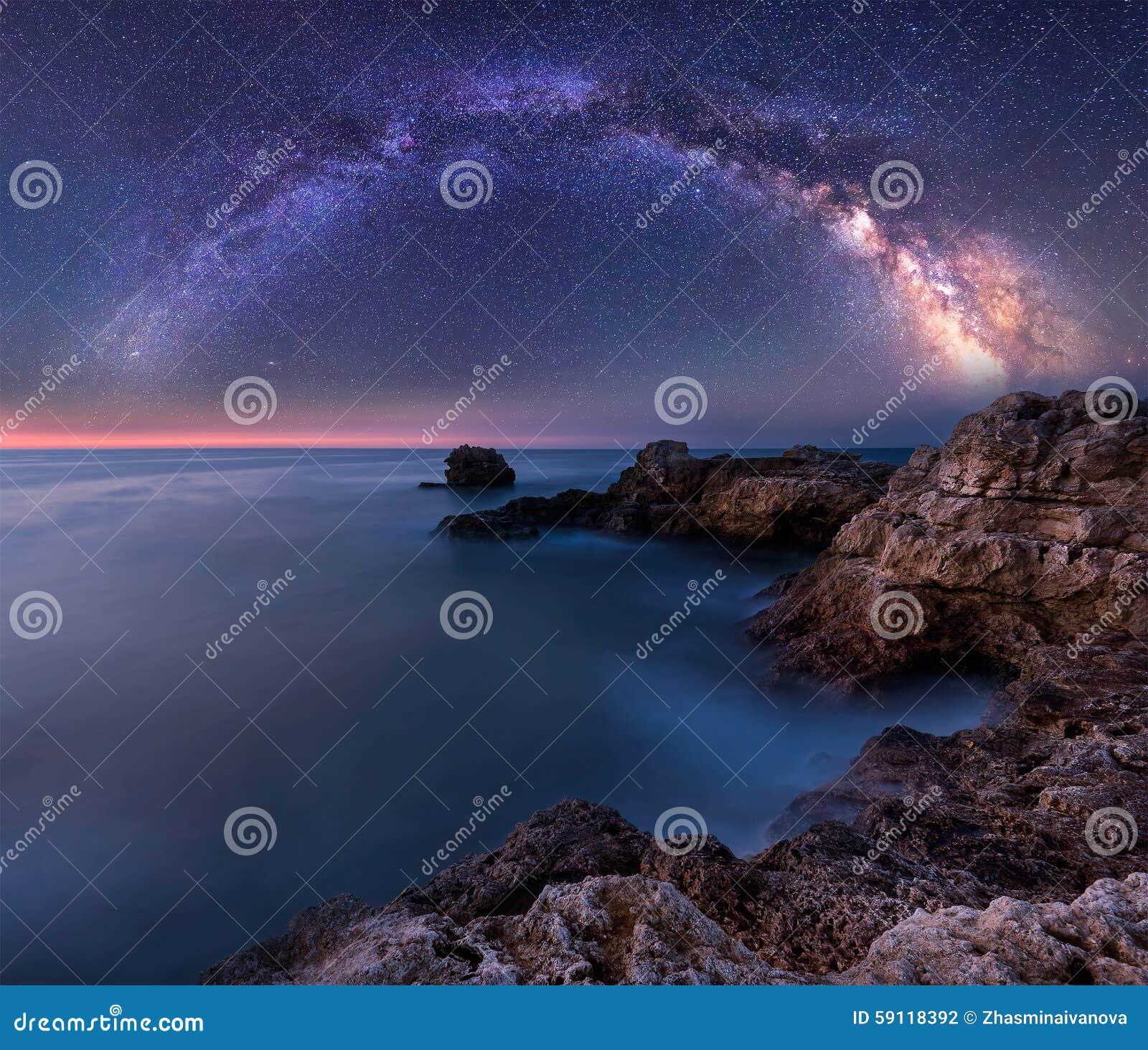 Milky sposób nad morzem