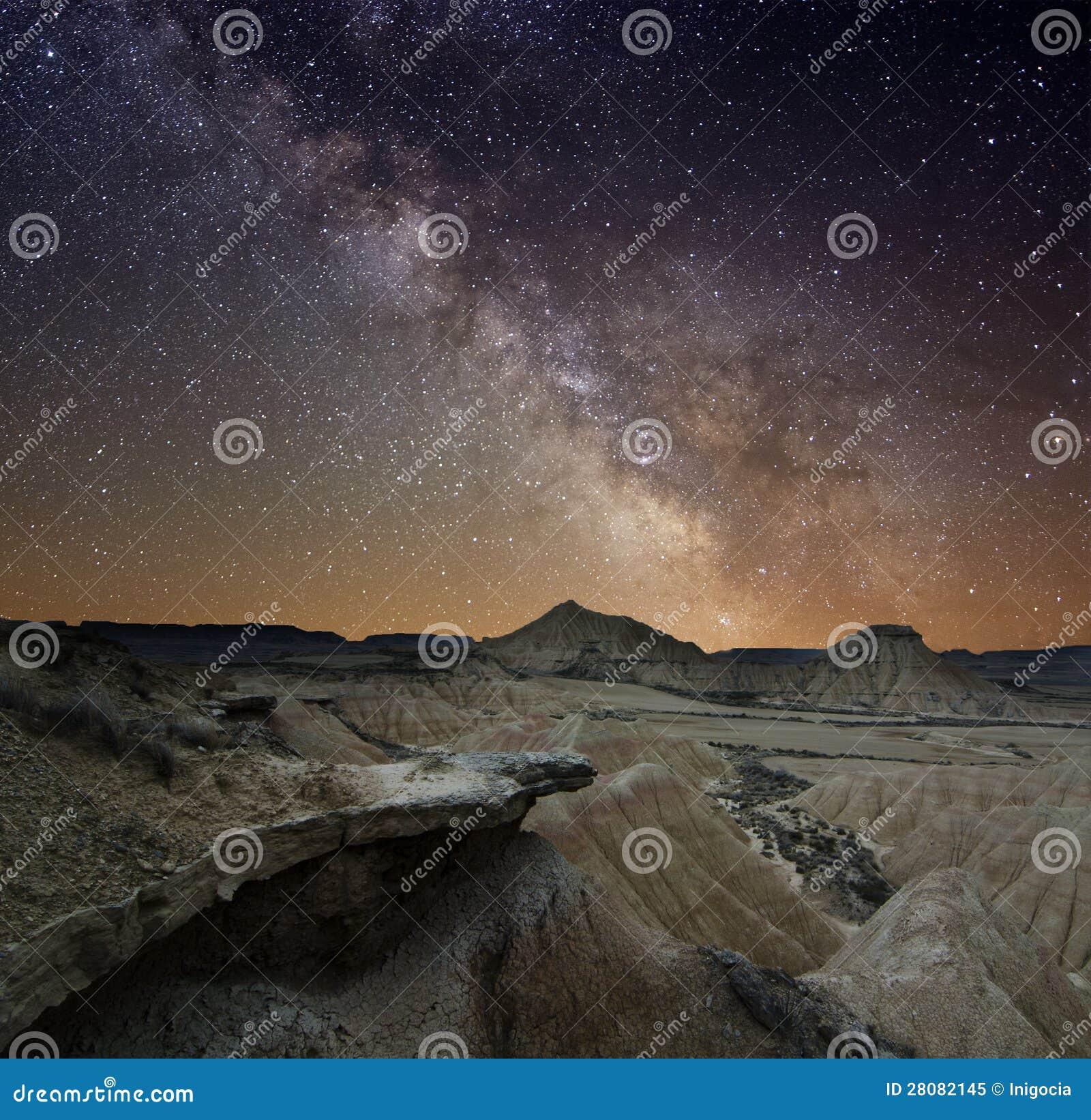 Milky sposób nad pustynią