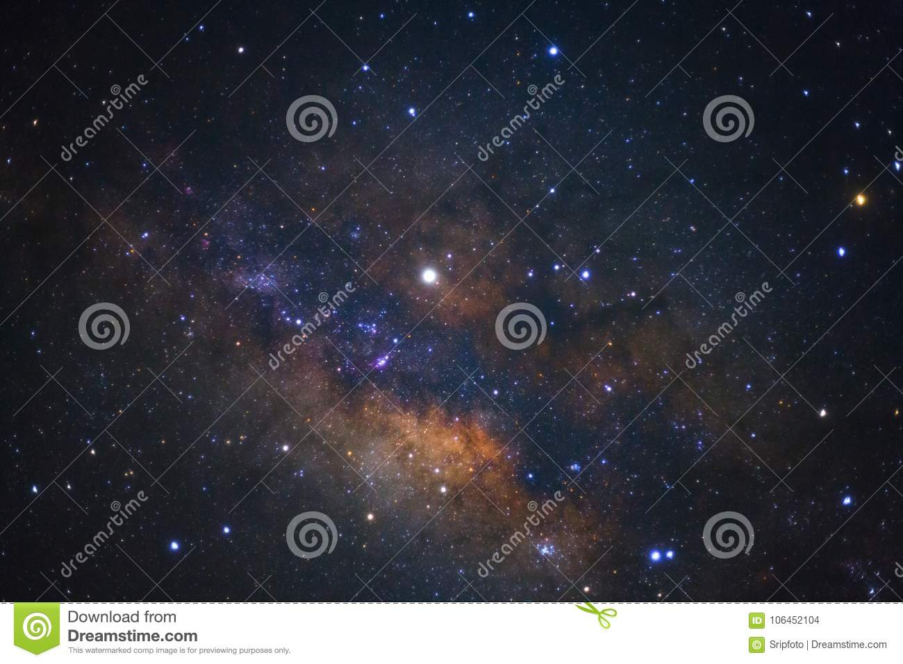 Galactic center of the milky way galaxy