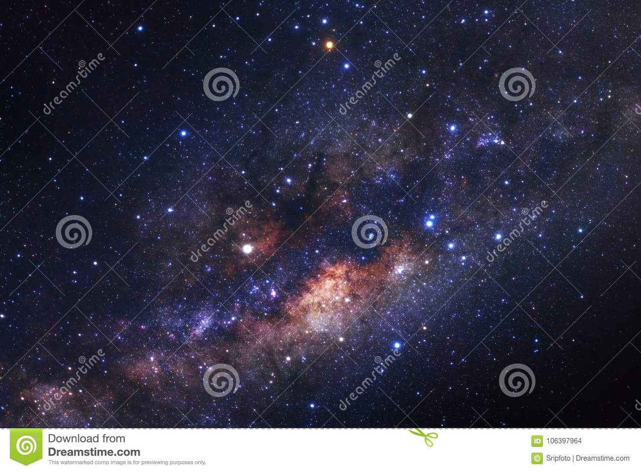 Download Milky Way Galaxy With Stars And Space Dust In The Universe Stock Photo - Image of science, nebulae: 106397964