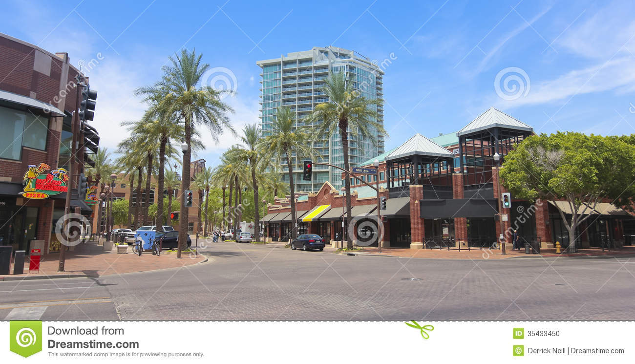 Arial view of Mill Avenue | Mill Avenue & Downtown Tempe near ...