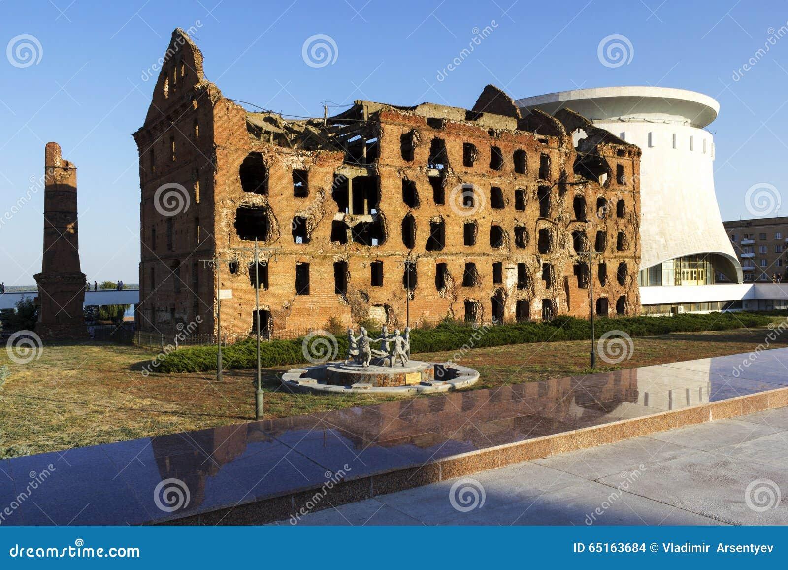 Ruined mill of Gergardt in Volgograd 89