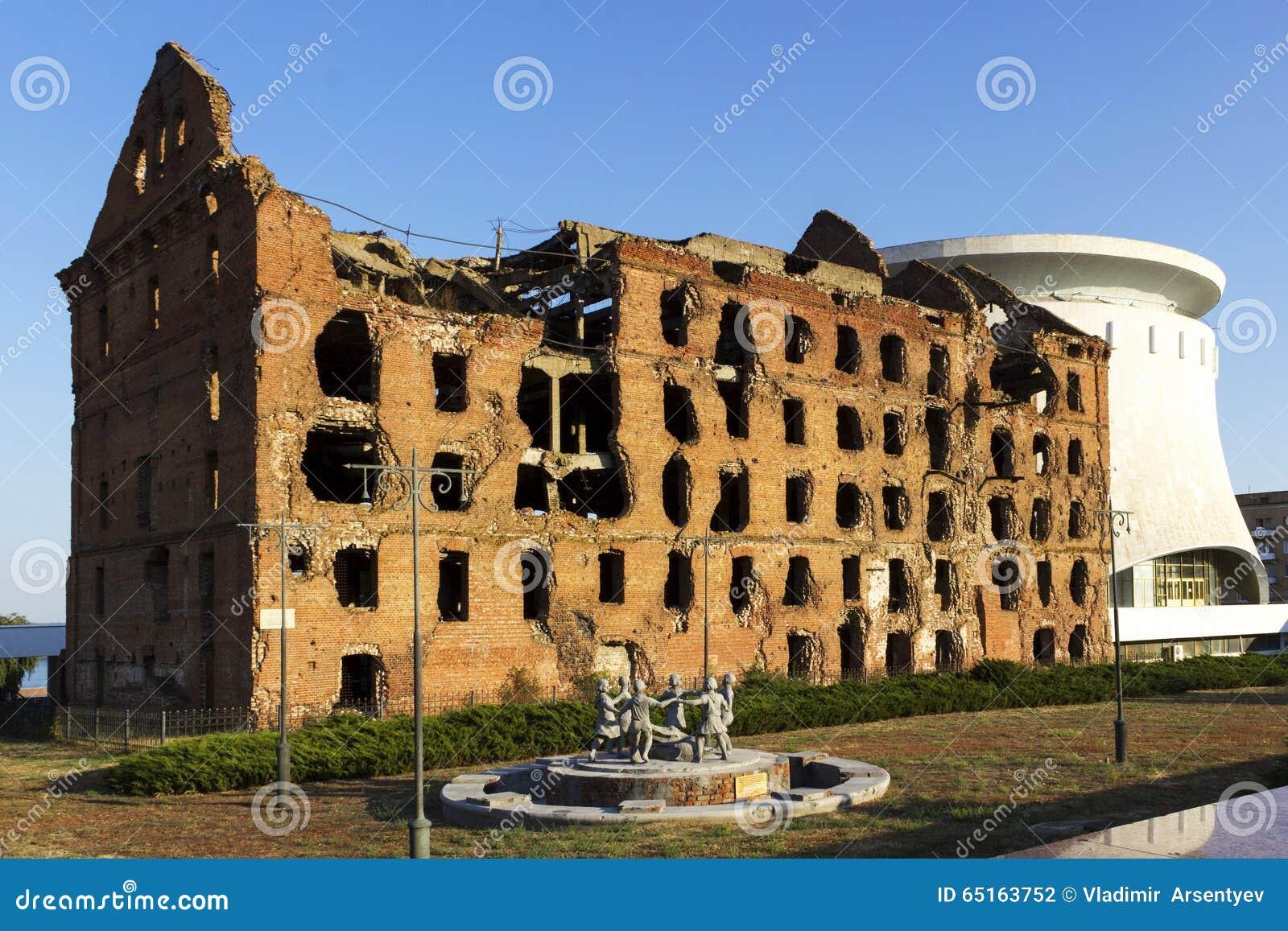 Ruined mill of Gergardt in Volgograd 74