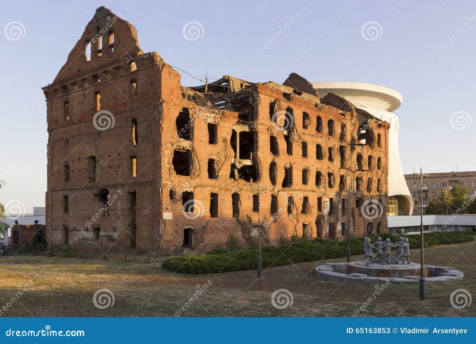 Ruined mill of Gergardt in Volgograd 72