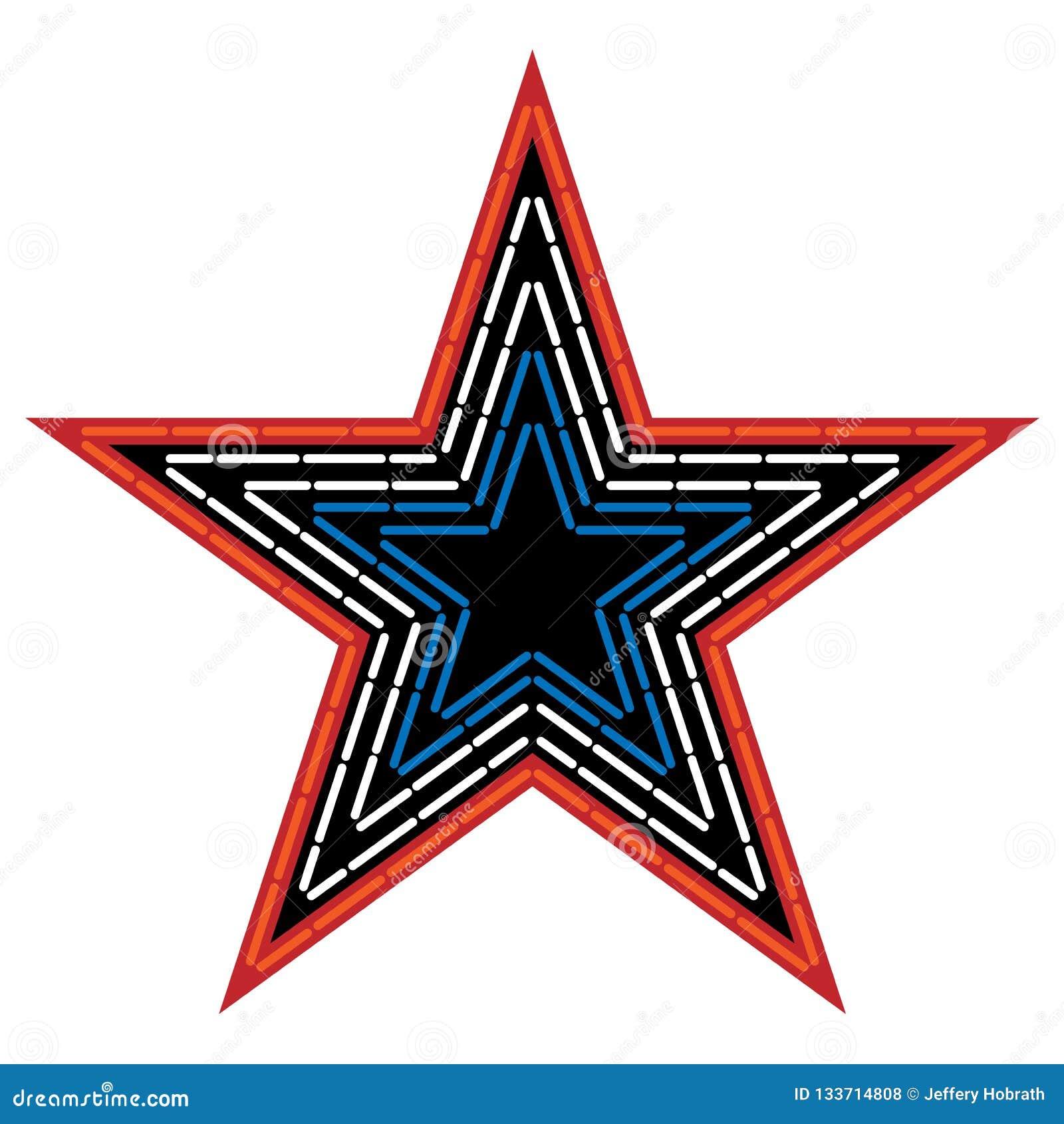 Mill Mountain Star Vector Illustration