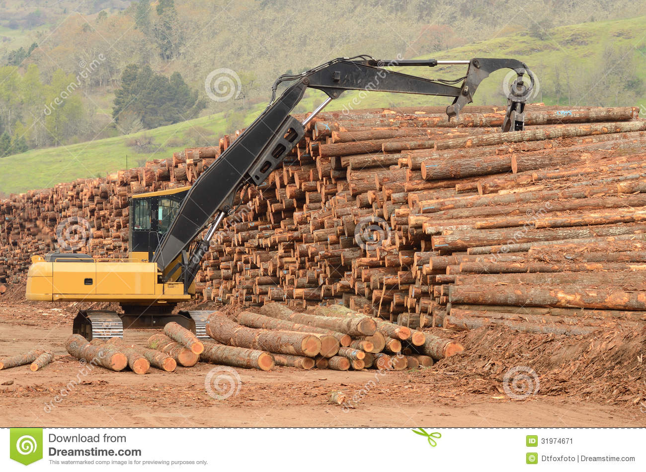 Mill ops stock image image of wood machinery mover for Mill log