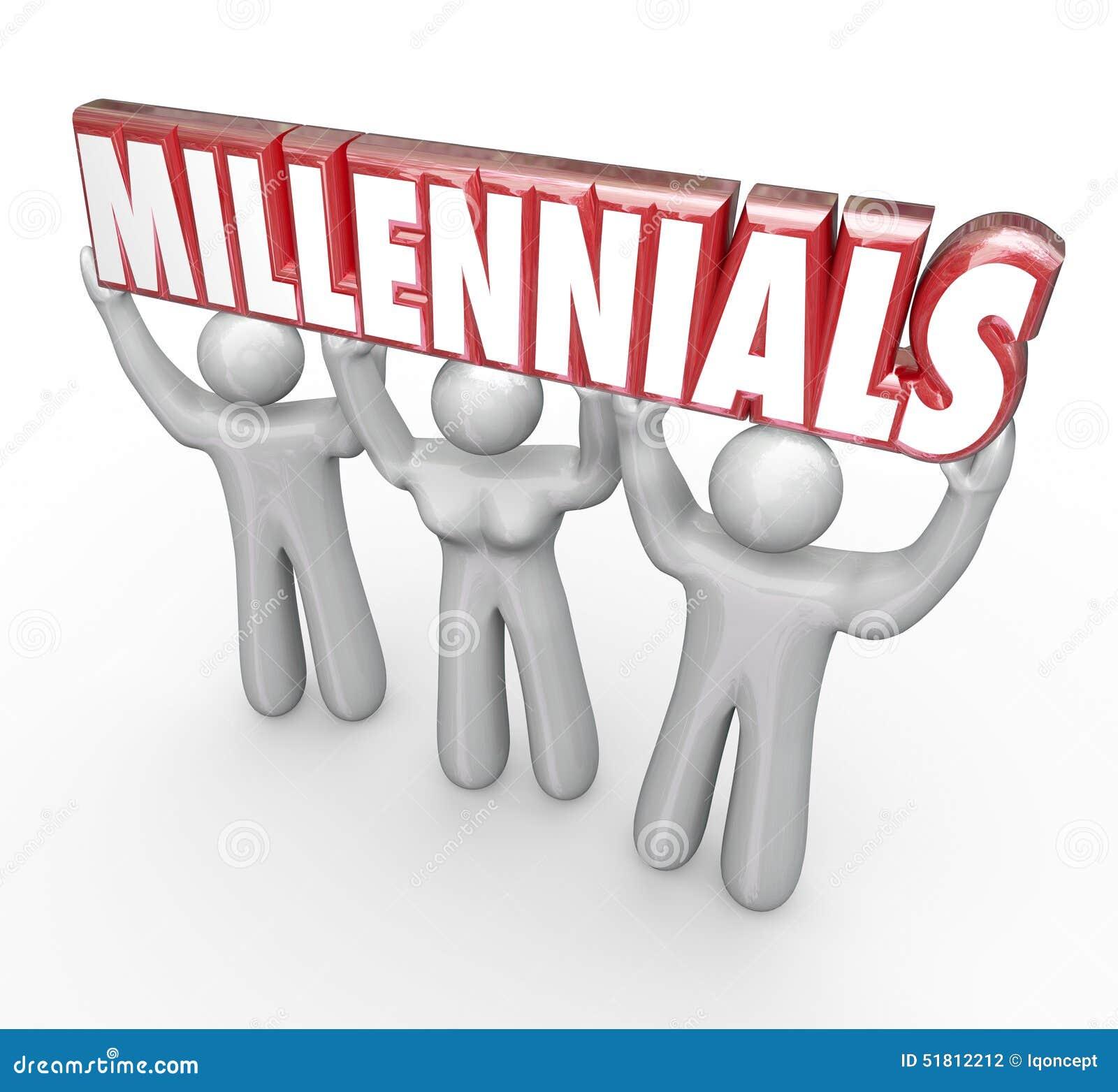 Marketing to Millennials Clip Art