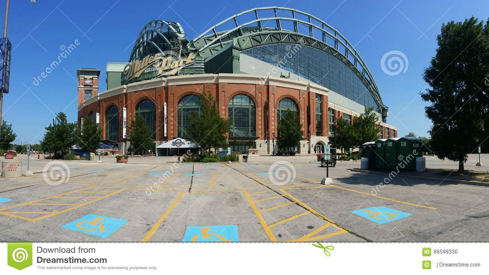 Miller Park Editorial Image Image 66599330