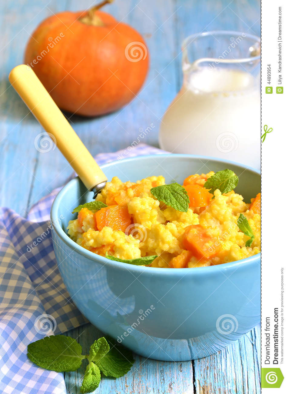 Millet Porridge. Stock Photo - Image: 44893954