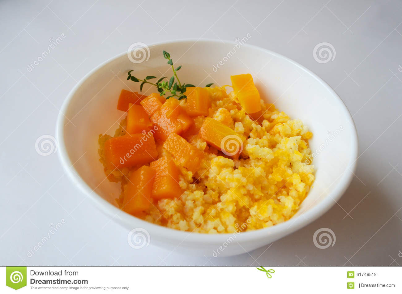 Millet Porridge With Pumpkin Stock Photo - Image: 61749519