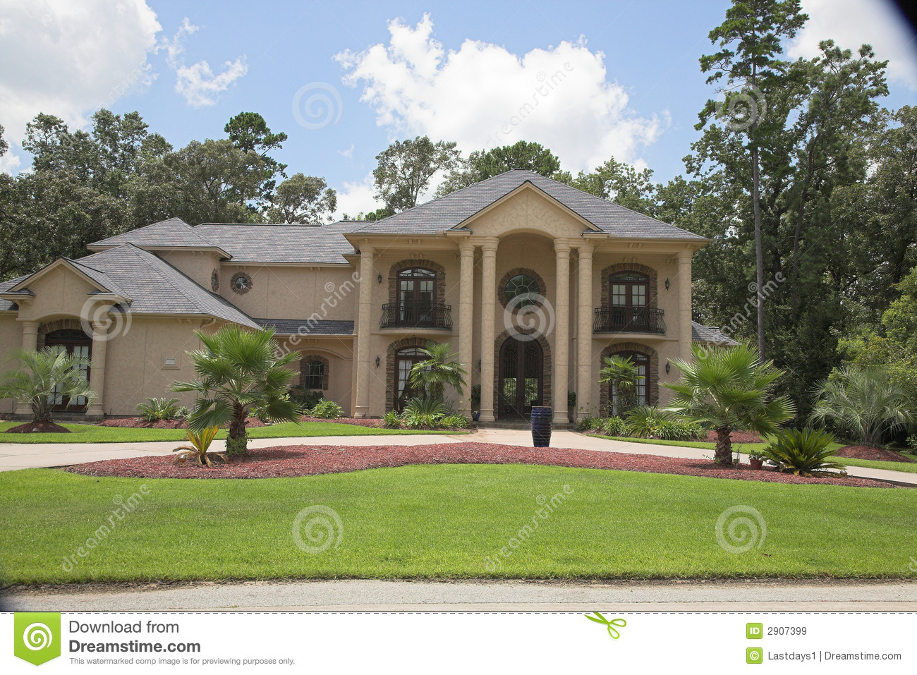 Million Dollar Homes Series Royalty Free Stock Images
