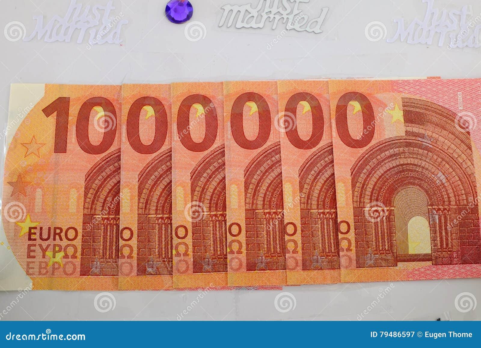 1 million euros stock image. Image of idea, folded, figure ...