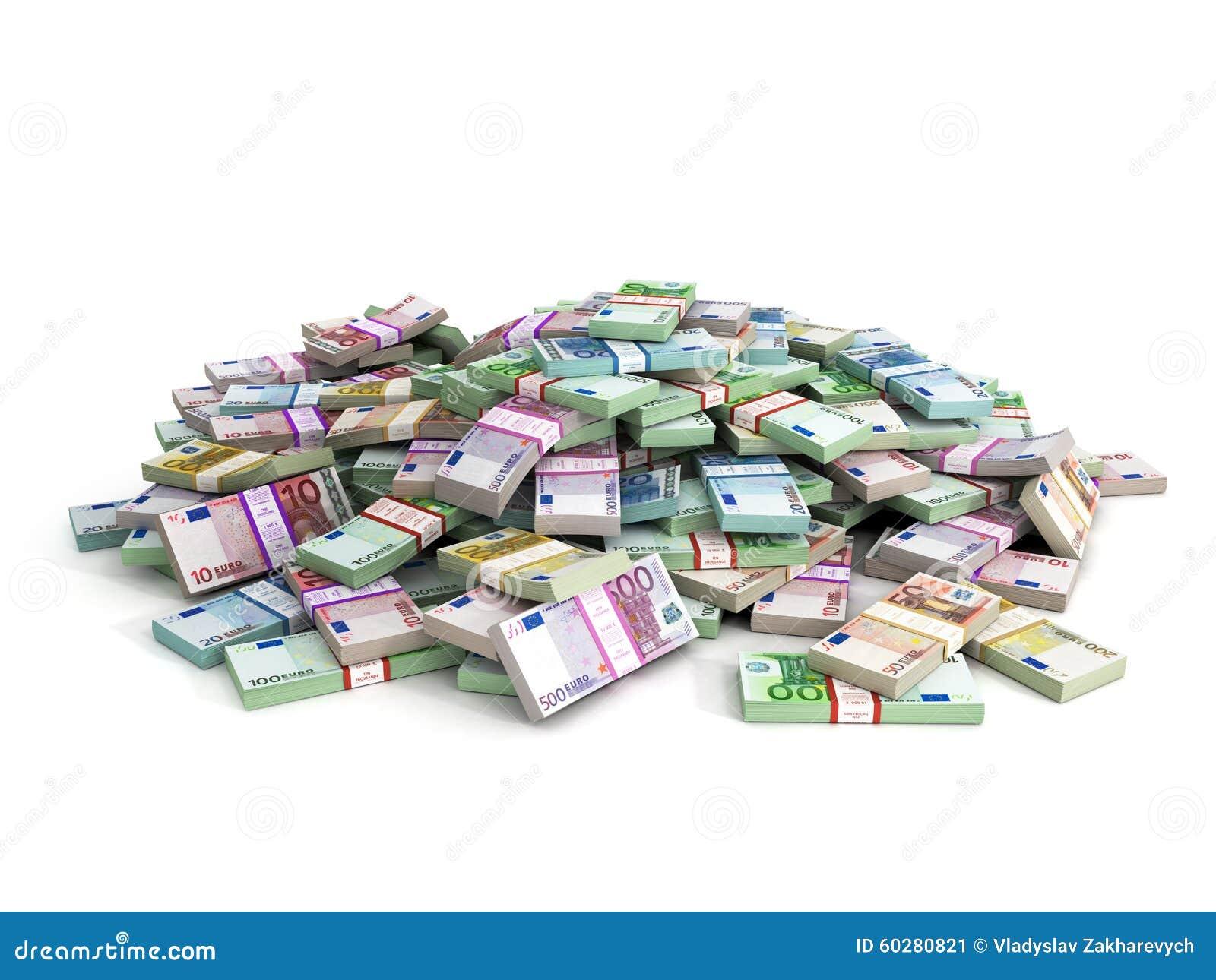 Millions Of Euros Stock Illustration - Image: 60280821