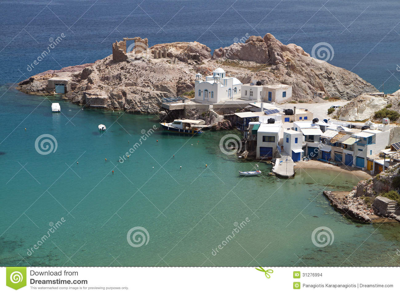 Traditional Fishing Houses In Klima Village In Milos ...