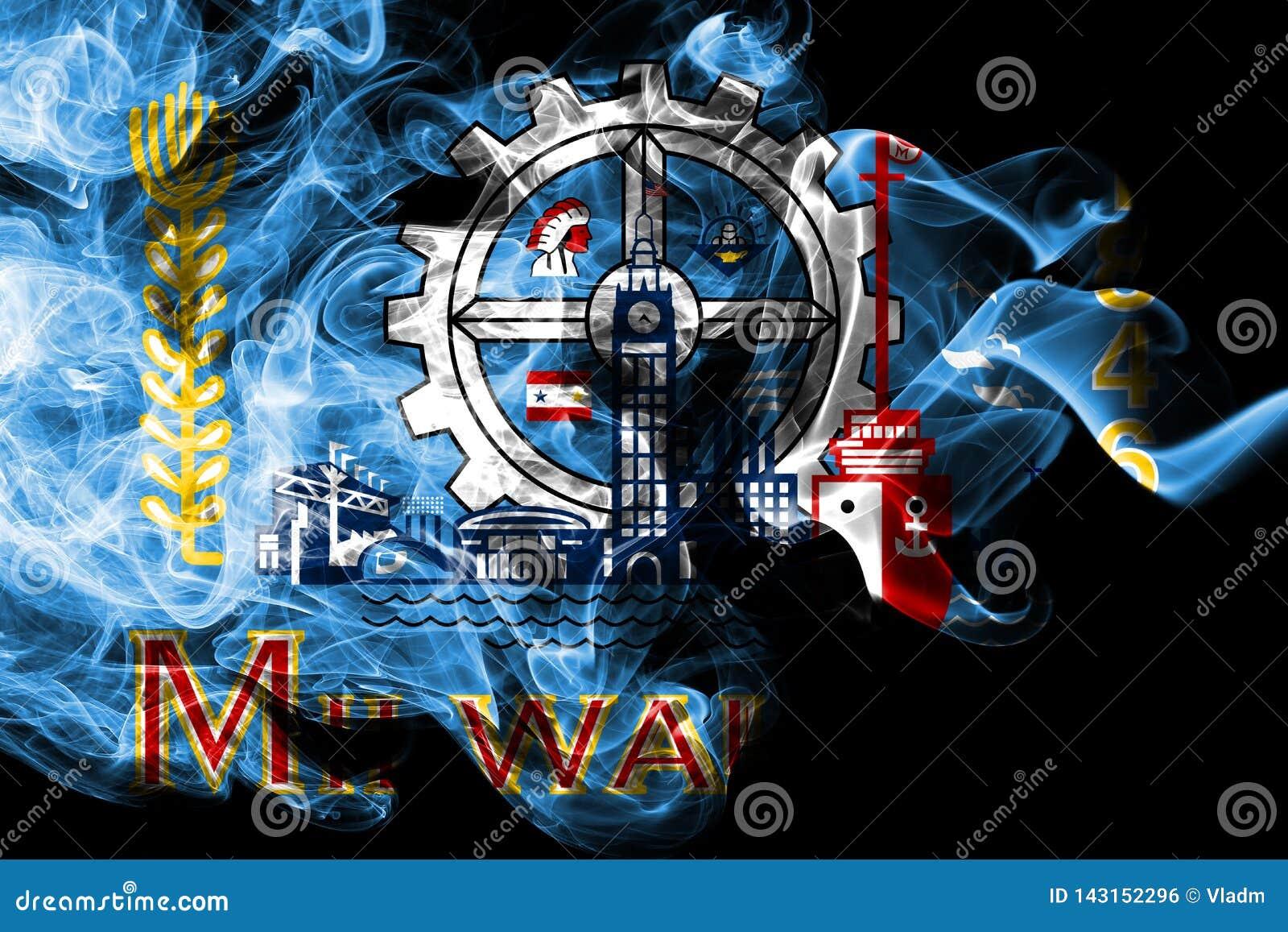Milwaukee city smoke flag, Wisconsin State, United States Of America