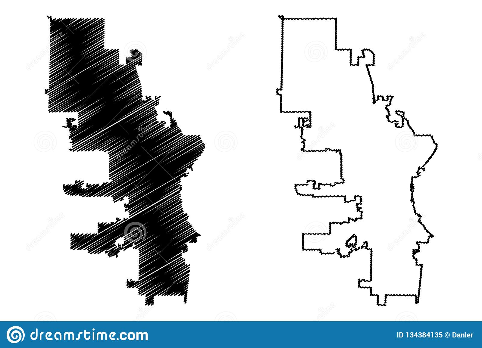 Baltimore City map vector stock vector. Illustration of abstract ...