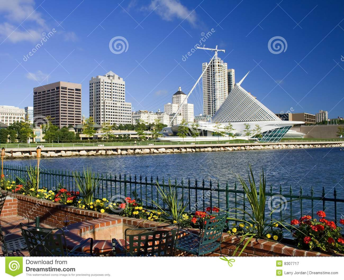 Milwaukee-Ufergegend-Skyline