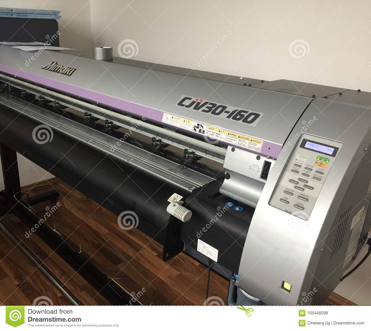 Mimaki Flatbed Cutting Plotter Editorial Stock Image - Image of