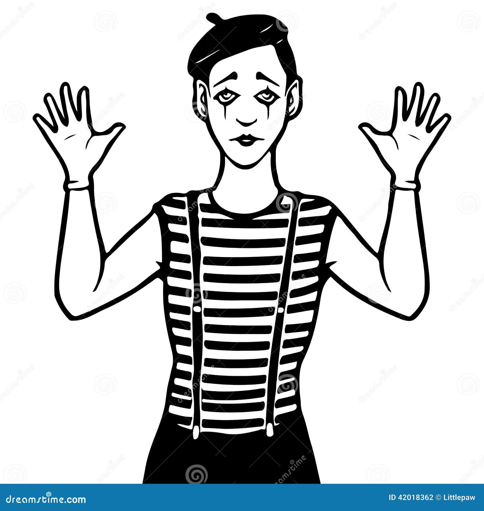 Line Art With Mr E : Mime illustration stock vector of stripe