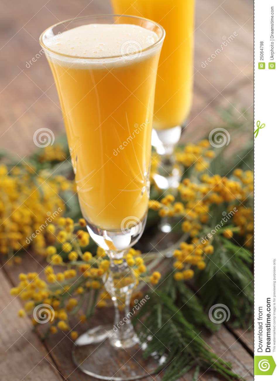 Mimosa cocktail stock photo image of rustic refreshment for Cocktail mimosa