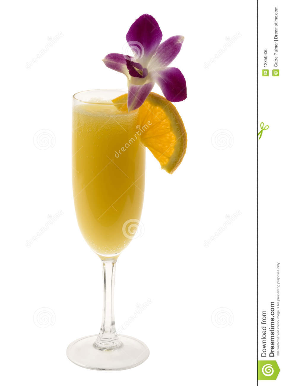 Mimosa Cocktail on a white Mimosa Drink Clipart