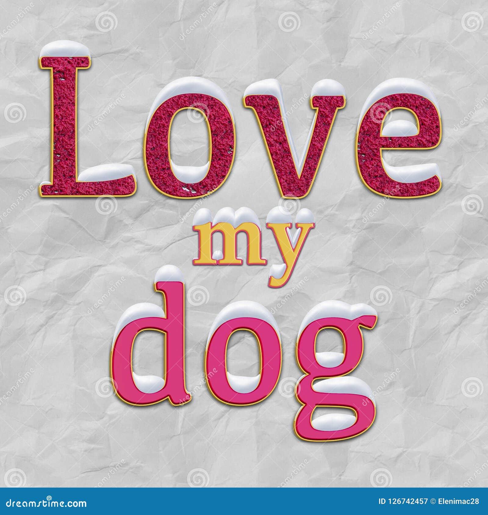 Min hundförälskelse illustration