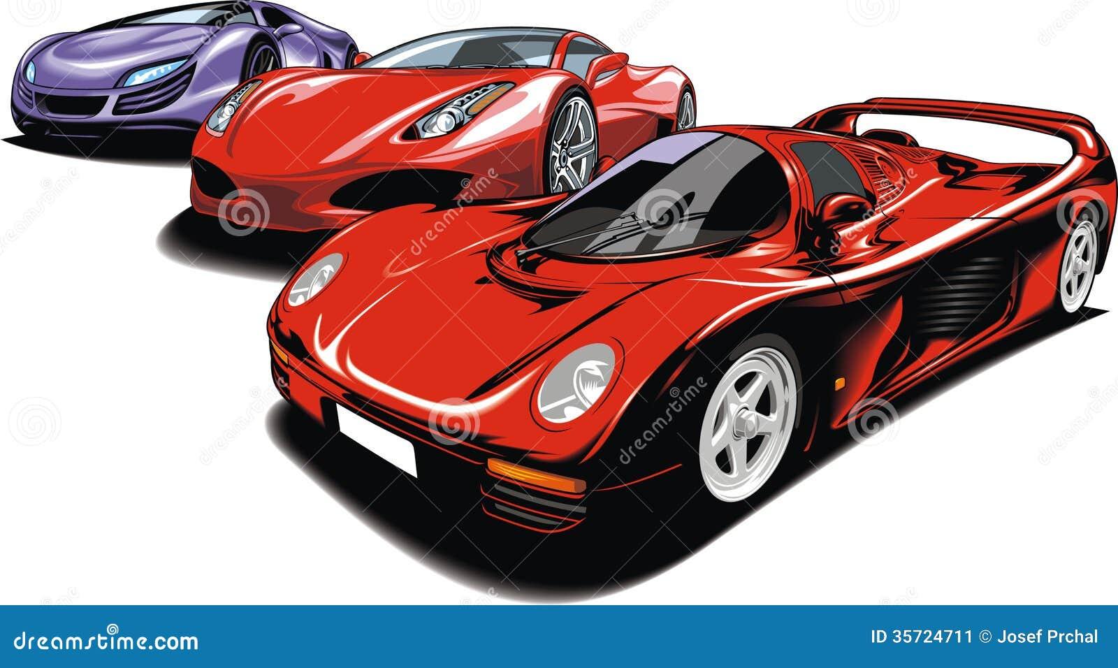 Min original- design för sportbilar