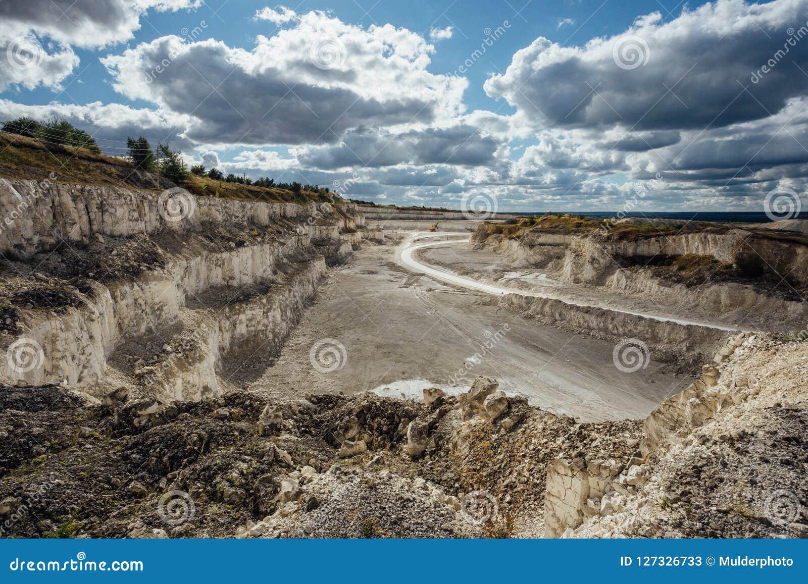 Mina Cretacea De La Explotacion Minera A Cielo Abierto Vision Aerea