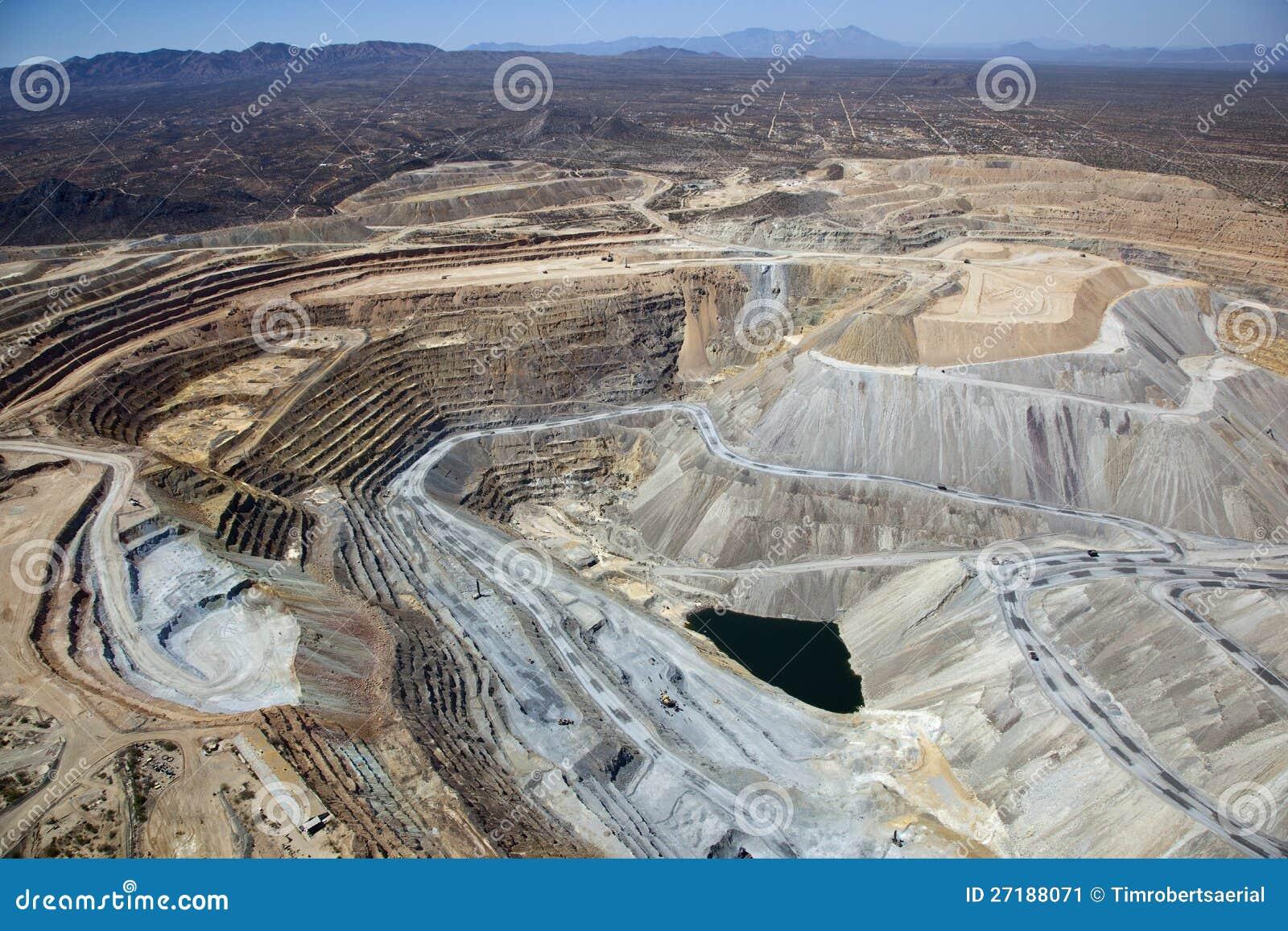 Mina de cobre de poço aberto
