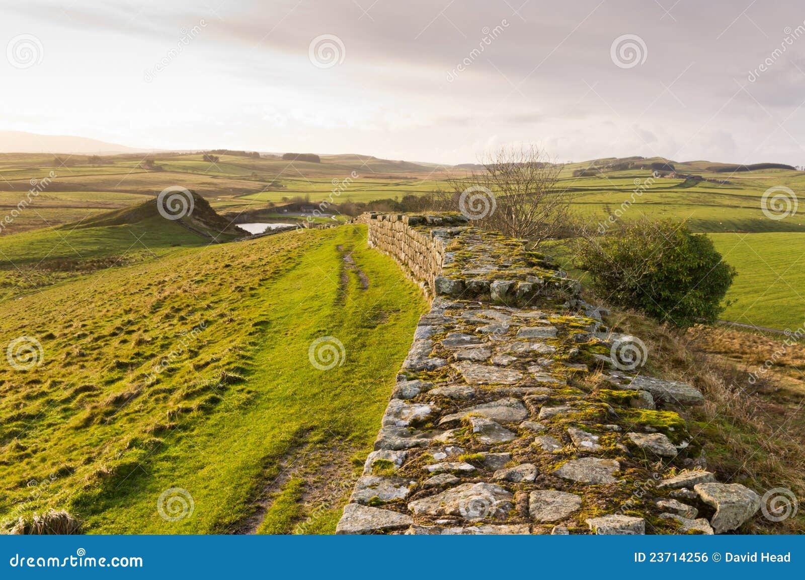Mina de la pared y de Cawfields de Hadrians más allá