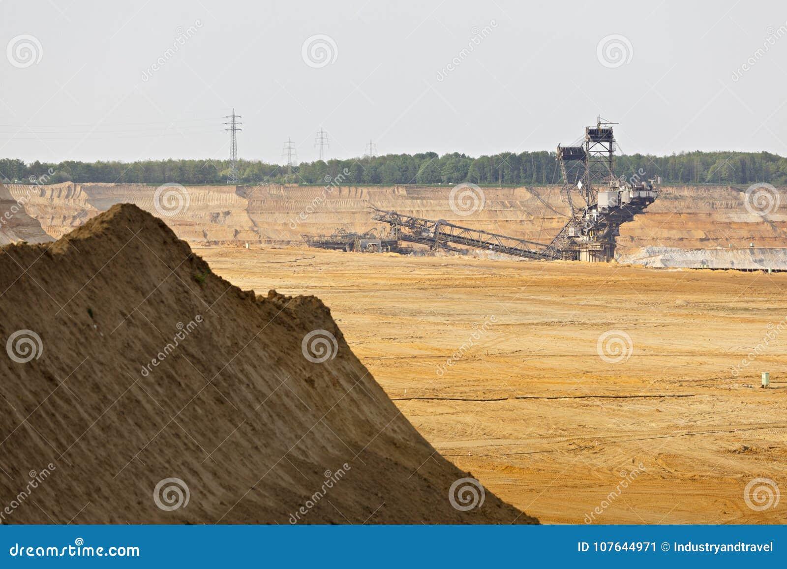 Mina de superfície do lignite