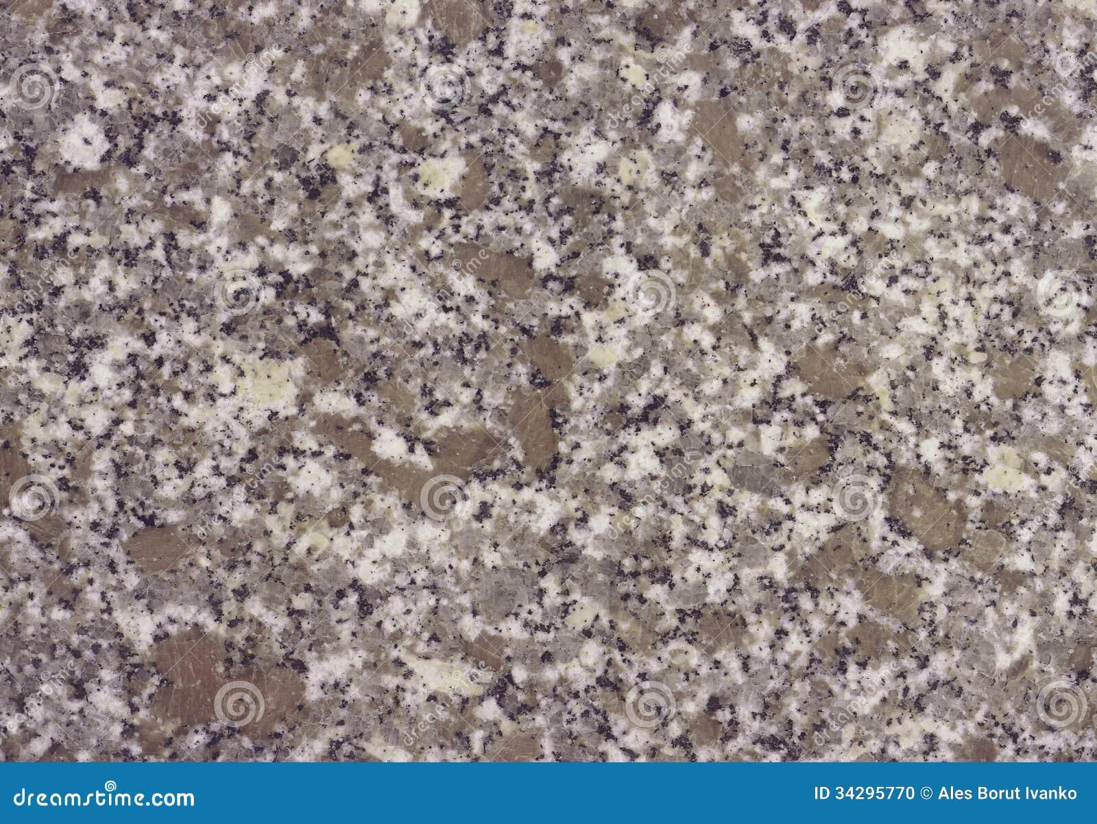 Brown Granite Colors : Minaral stone granite in brown and grey colors stock photo