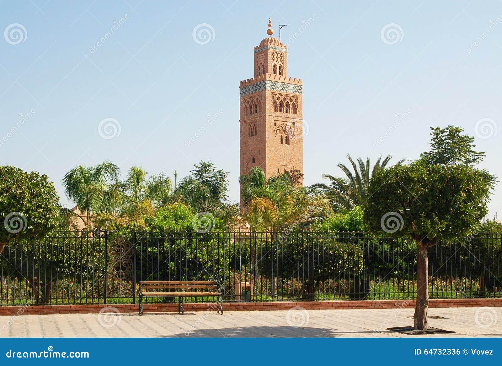 Minareto della moschea di Koutoubia a Marrakesh