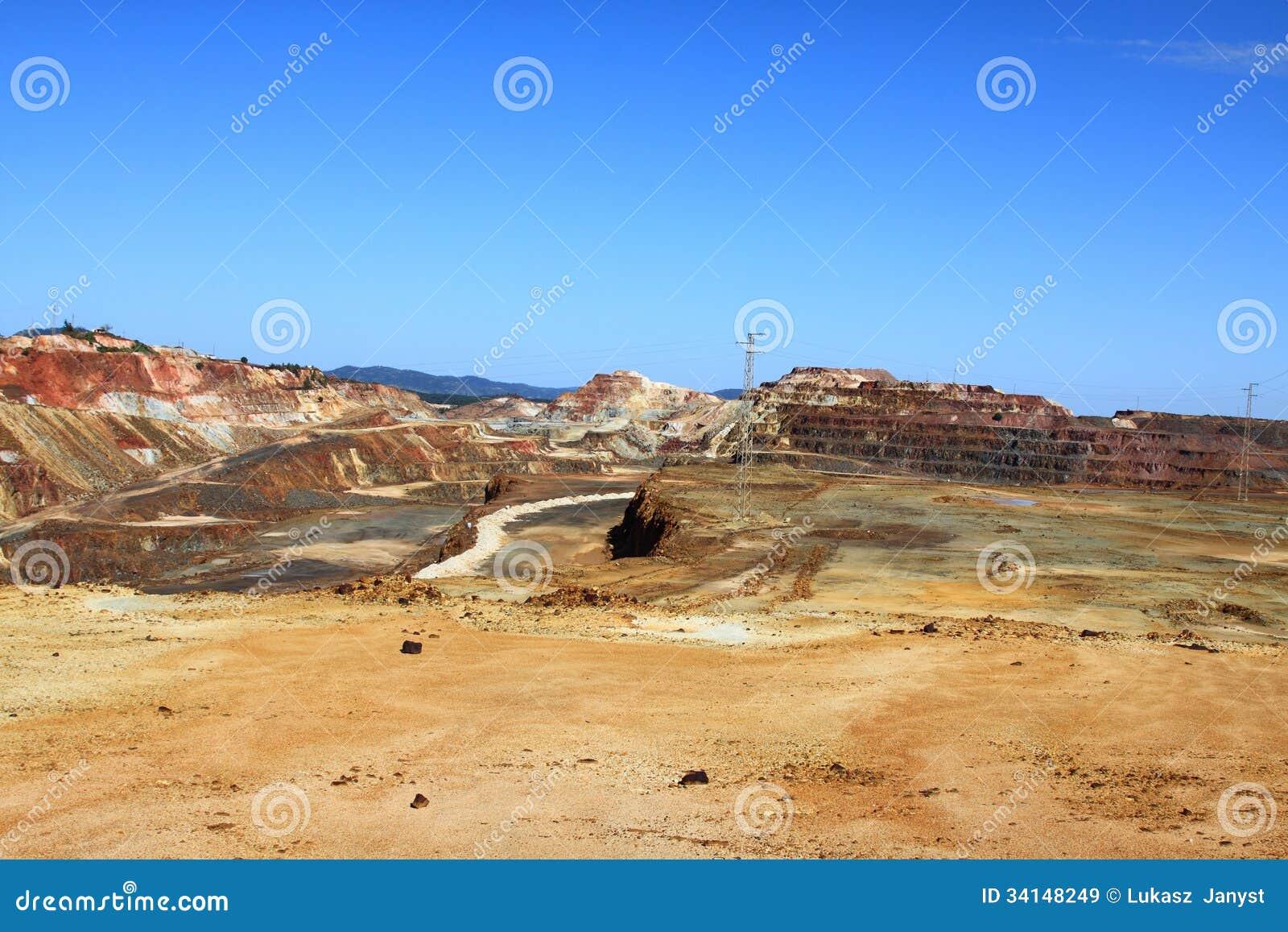 Minas De Riotinto Nerva Huelva Province Andalus Stock