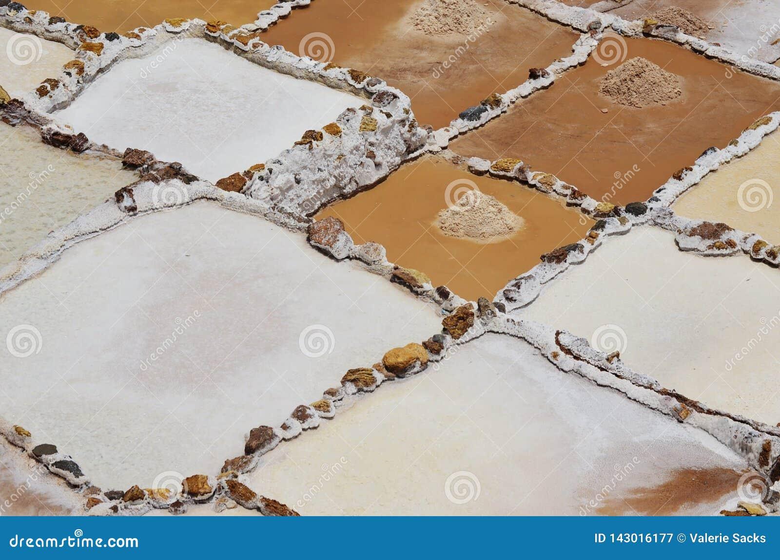 Minas de sal de Maras, no vale sagrado do Peru
