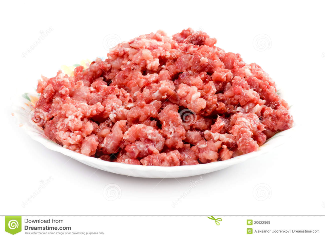 Mince meat on plate stock image. Image of close, meaty ...