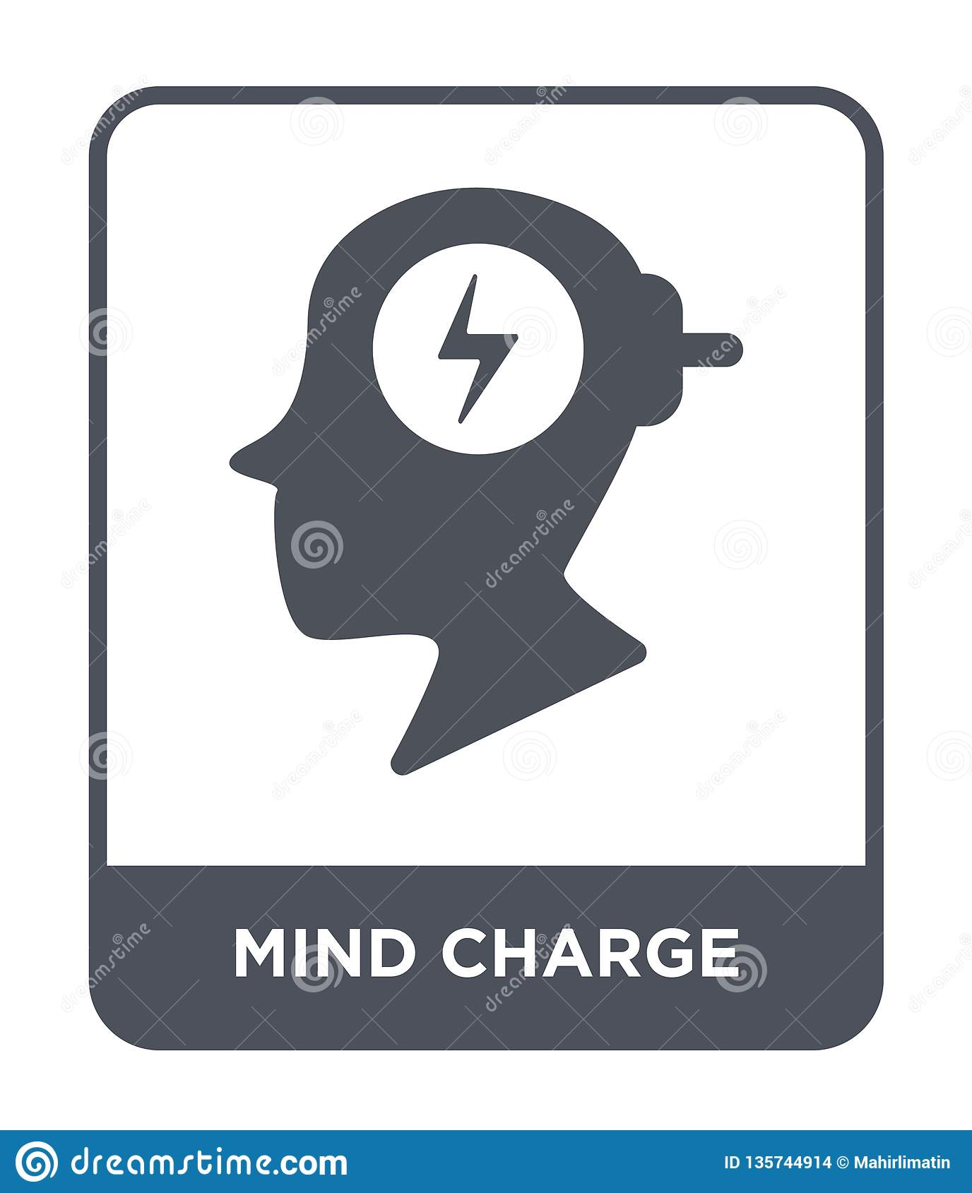 mind charge icon in trendy design style. mind charge icon isolated on white background. mind charge vector icon simple and modern