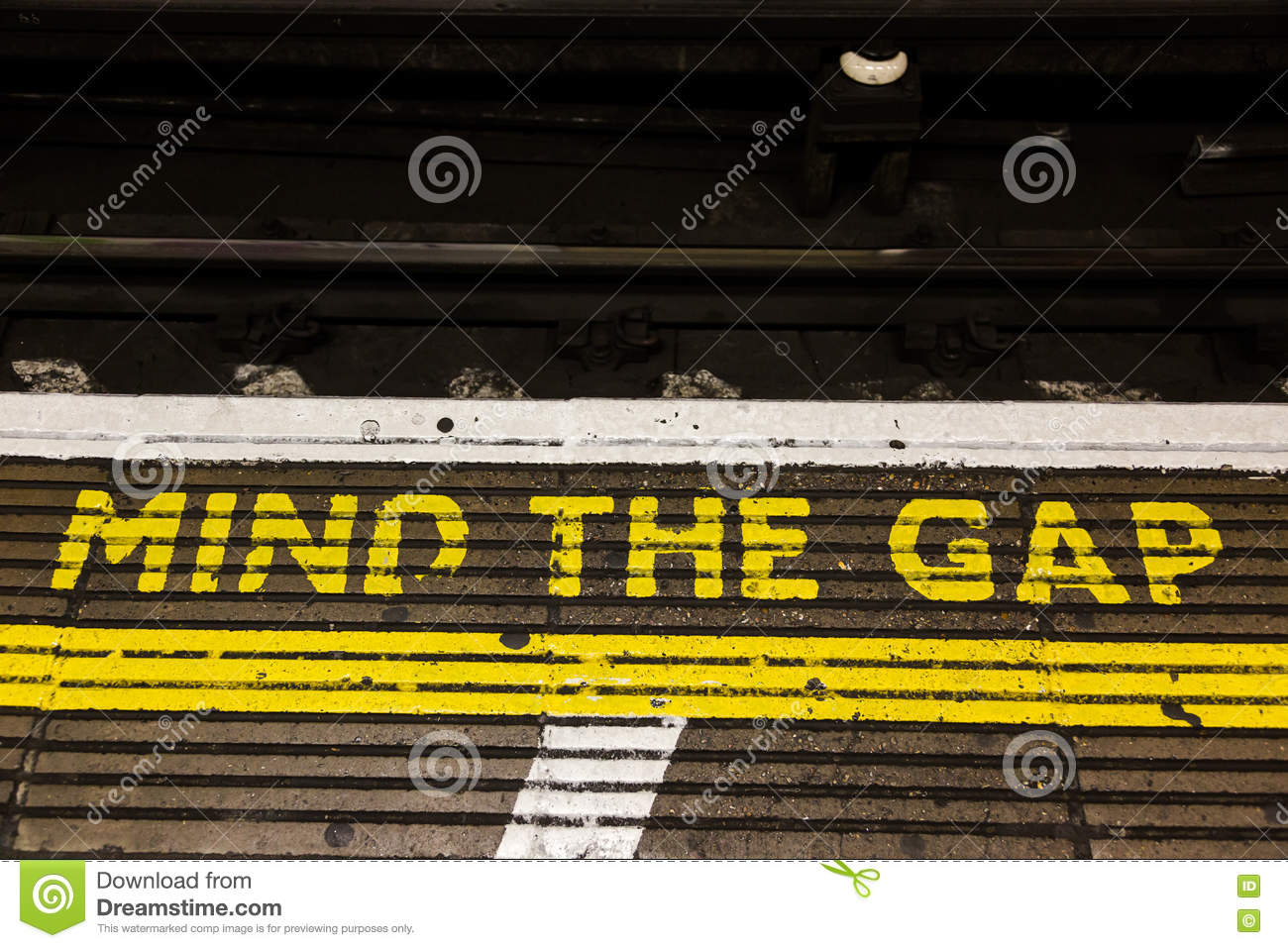 Mind The Gap Stock Image Image Of Caution Railway Letters 79232245