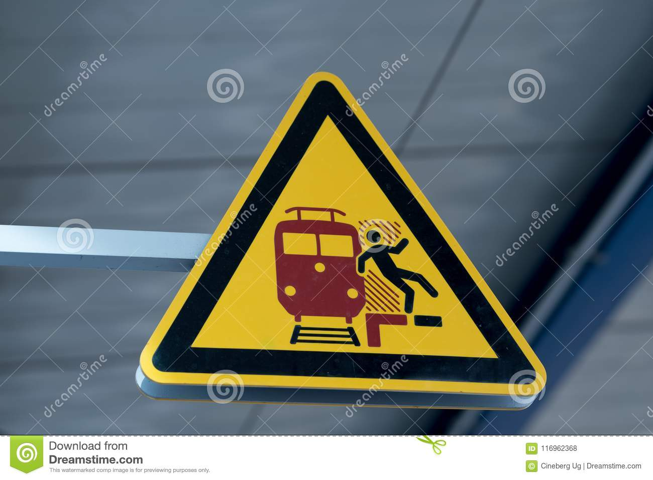 Mind The Gap Warning Sign Stock Photo Image Of Signs 116962368