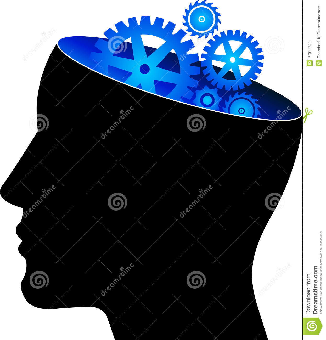 mind gear stock vector image of education gear color